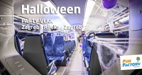 Halloween Party Train, fun factory, party vlak