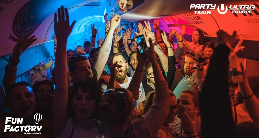 utra party train, fun factory, party vlak, split, ultra